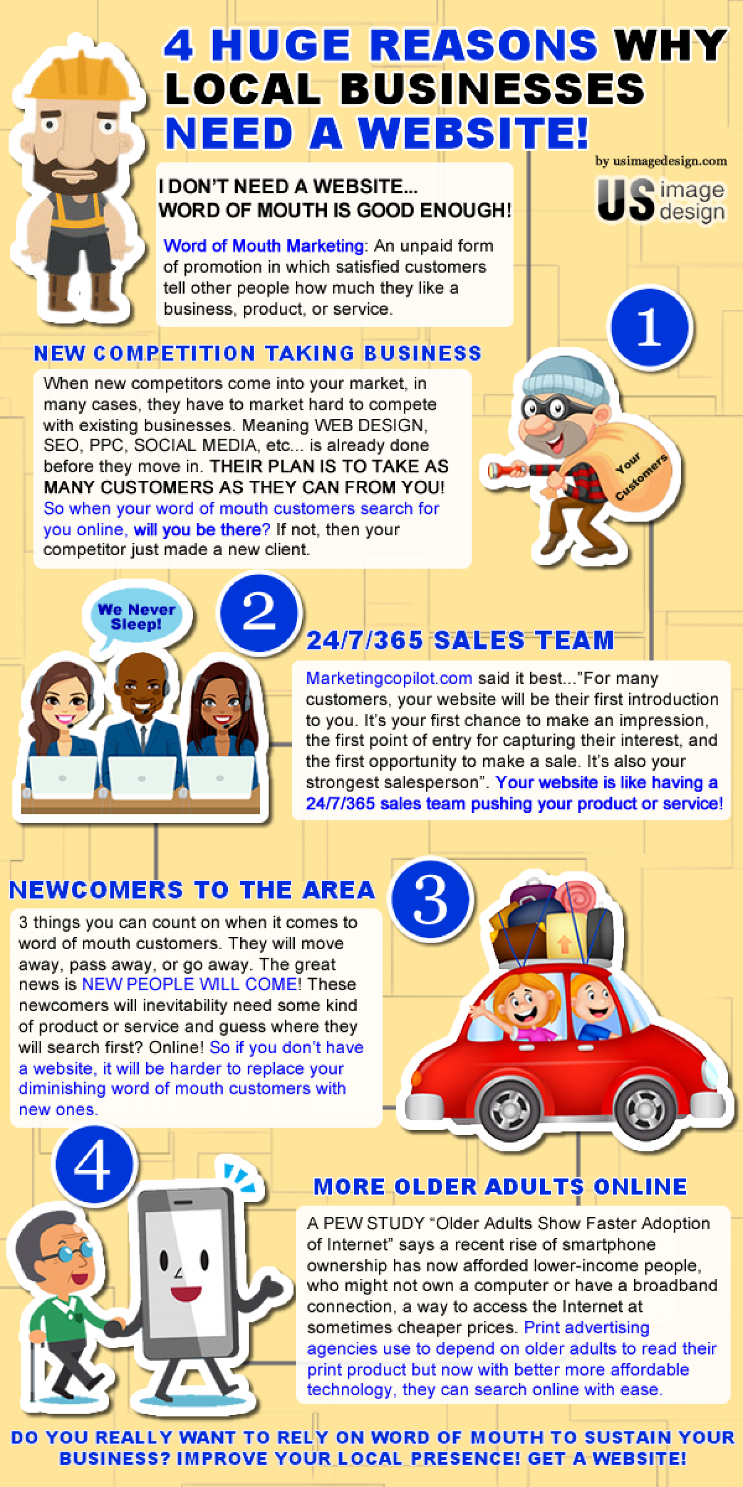 4 HUGE REASONS WHY LOCAL BUSINESSES NEED A WEBSITE 2017! Infographic