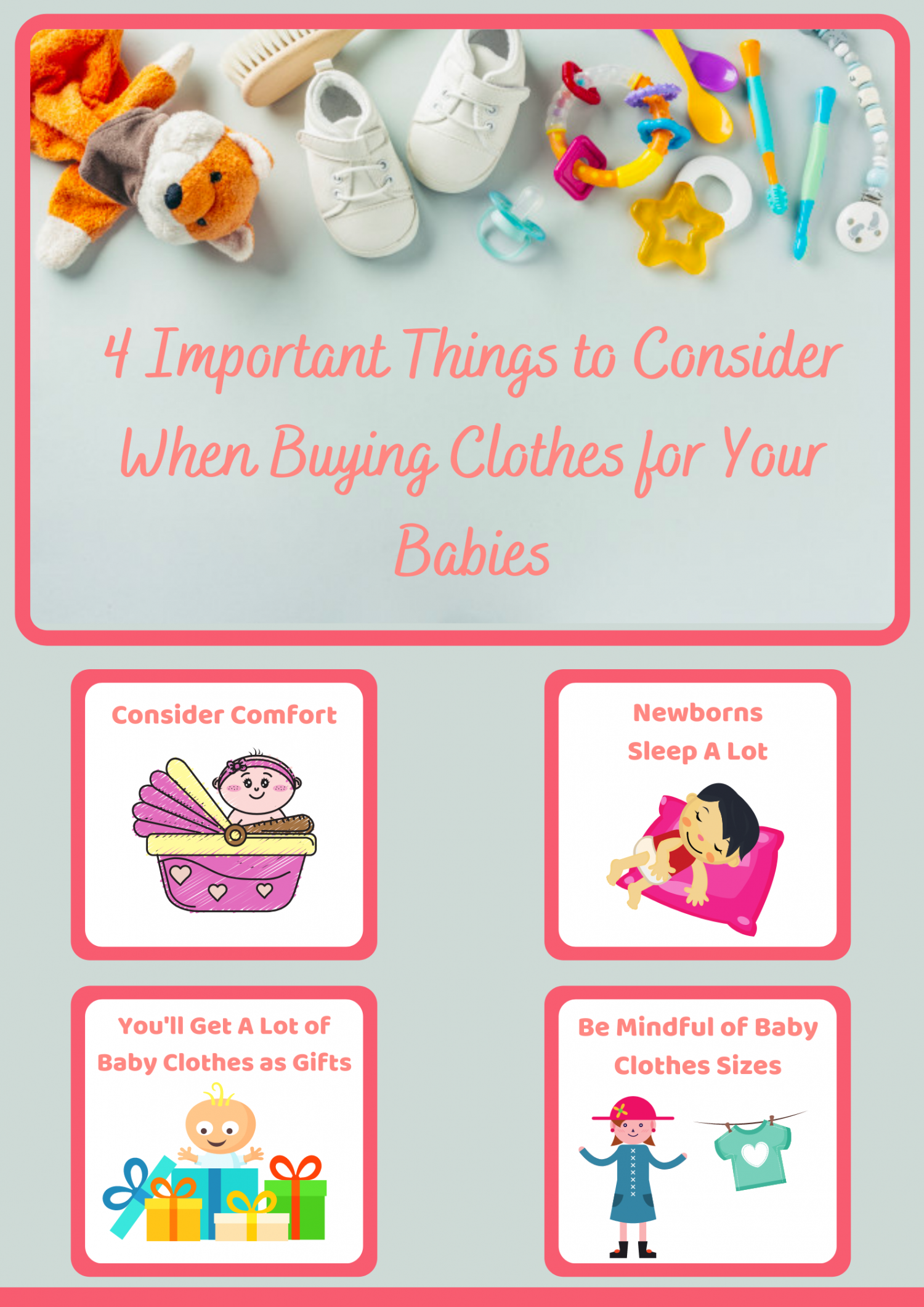 4 Important Things to Consider When Buying Clothes for Your Babies Infographic