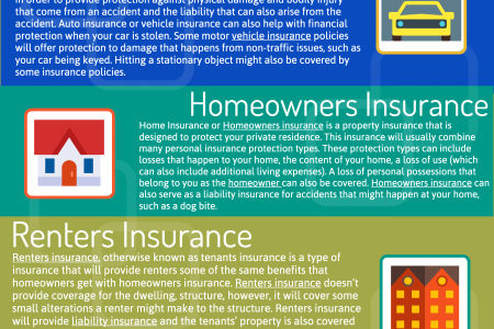 4 INSURANCE TYPES OFFERED Infographic