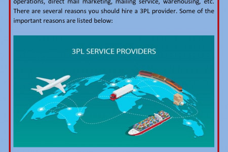 4 Main Reasons To Hire A 3PL Service Provider Companies Infographic