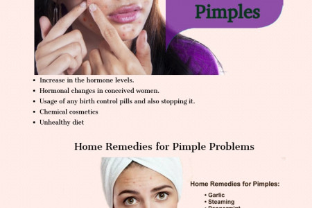 4 Major Cause of Pimples Infographic