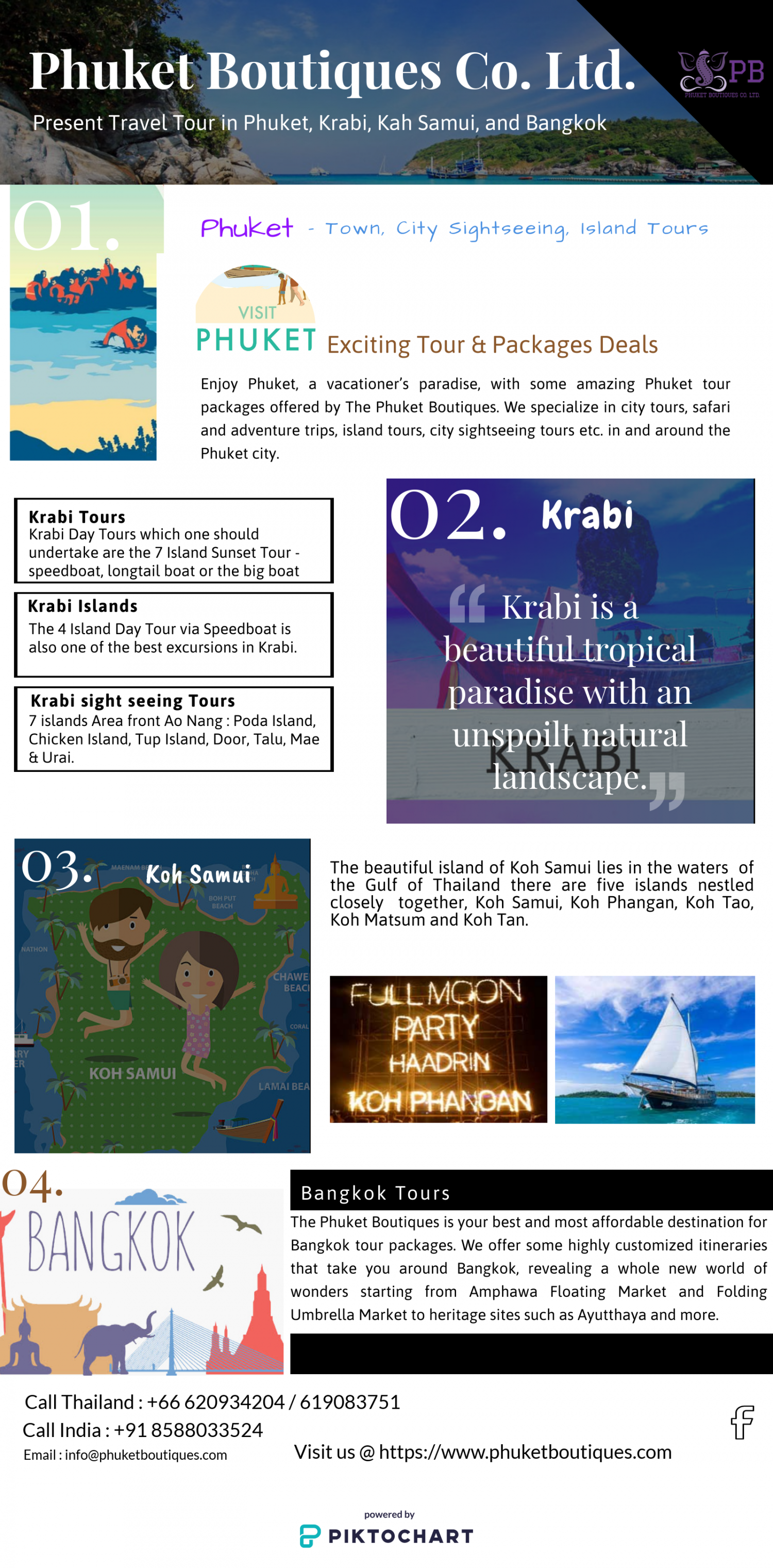 4 Places that you must see in Thailand Infographic