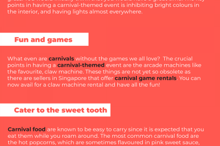 4 Points to Consider in Throwing A Carnival-themed Event Infographic