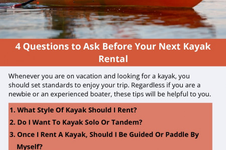 4 Questions to Ask Before Your Next Kayak Rental Infographic