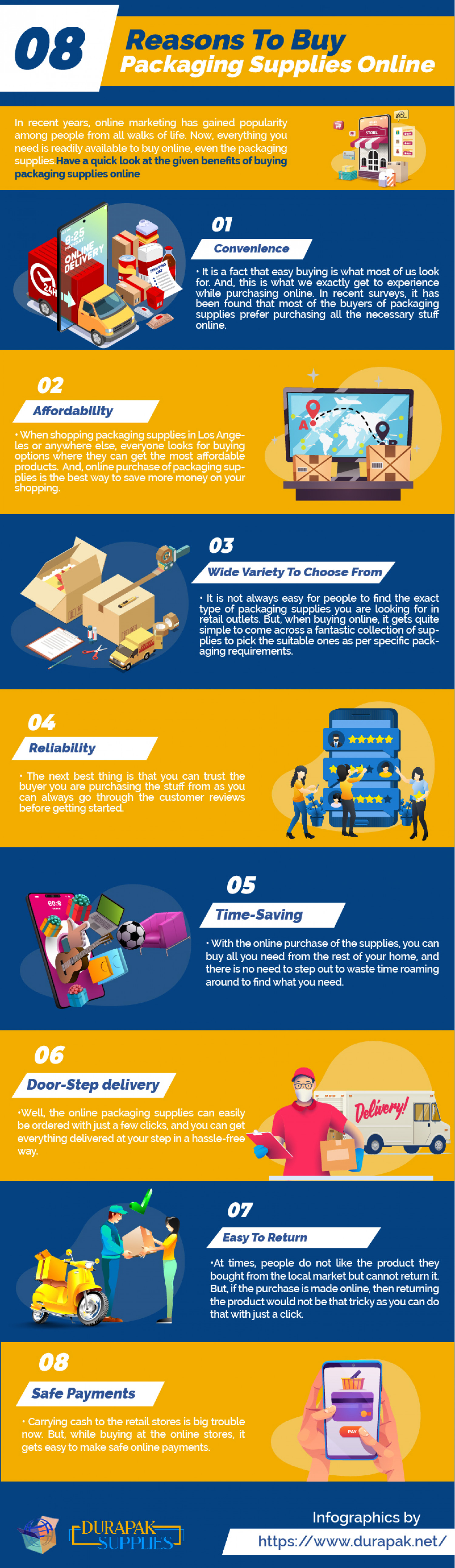4 Reasons For Buying Packaging Supplies Online Infographic