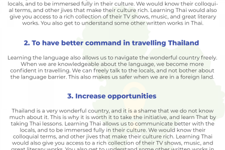 4 Reasons to Learn Thai Infographic