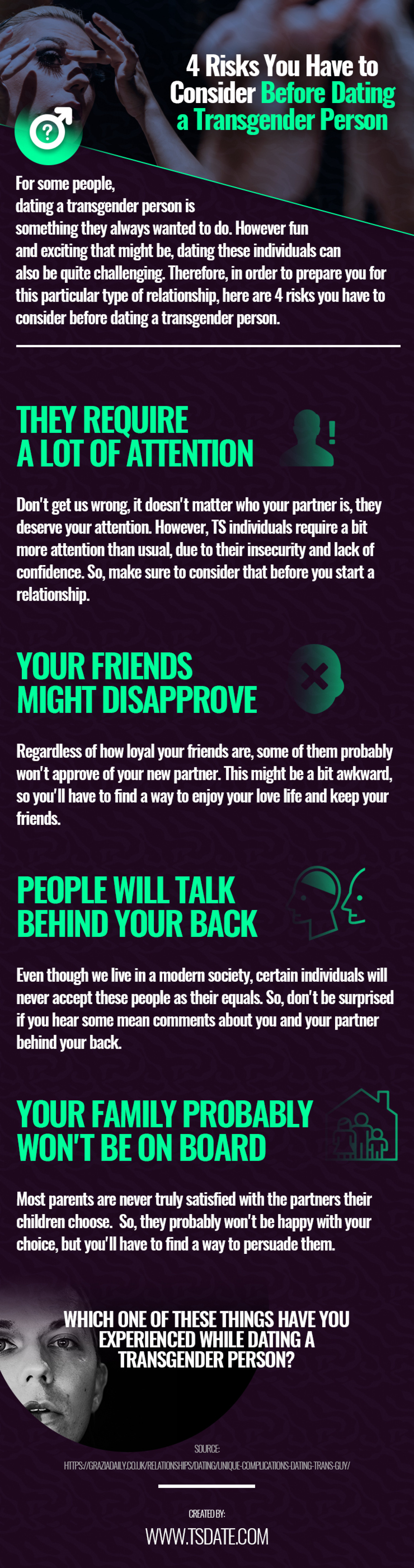 4 Risks You Have to Consider Before Dating a Transgender Person Infographic