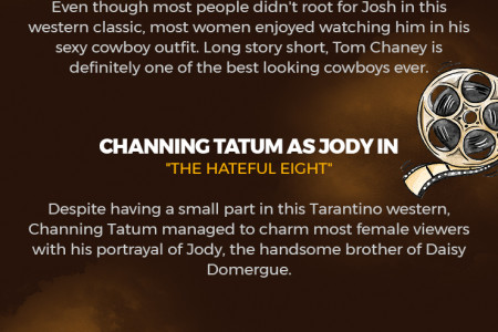 4 Sexiest Cowboys In Modern Western Movies Infographic
