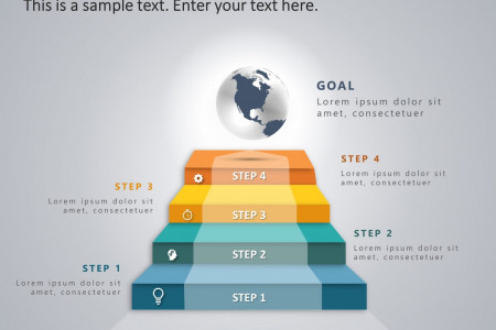 4 Steps Business Strategy Ladder PowerPoint Template Infographic