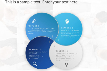 4 Steps Feature PowerPoint Template Infographic