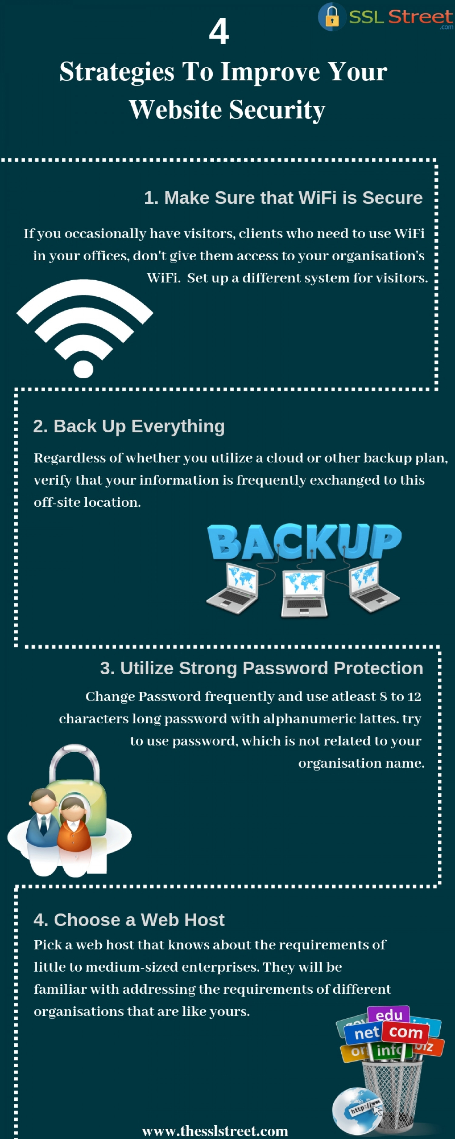 4 Strategies To Improve Your Website Security Infographic