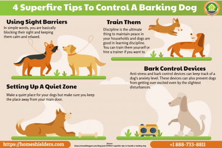 4 Superfire Tips To Handle A Barking Dog Infographic