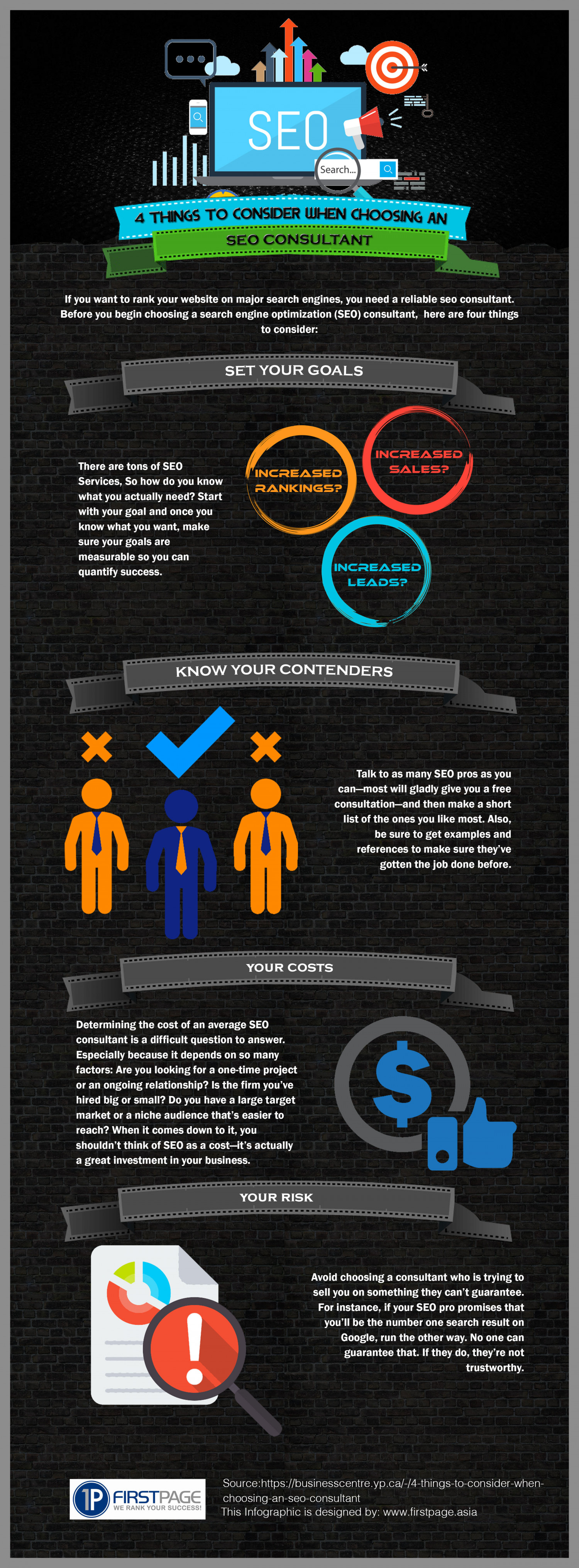 4 Things to Consider When Choosing an SEO Consultant - Infographic Infographic