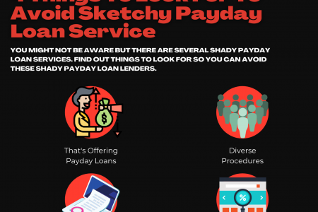4 Things To Look For To Avoid Sketchy Payday Loan Service Infographic