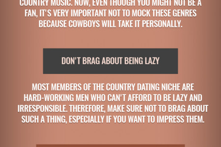 4 Things You Should Never Do On Cowboy Dating Sites Infographic