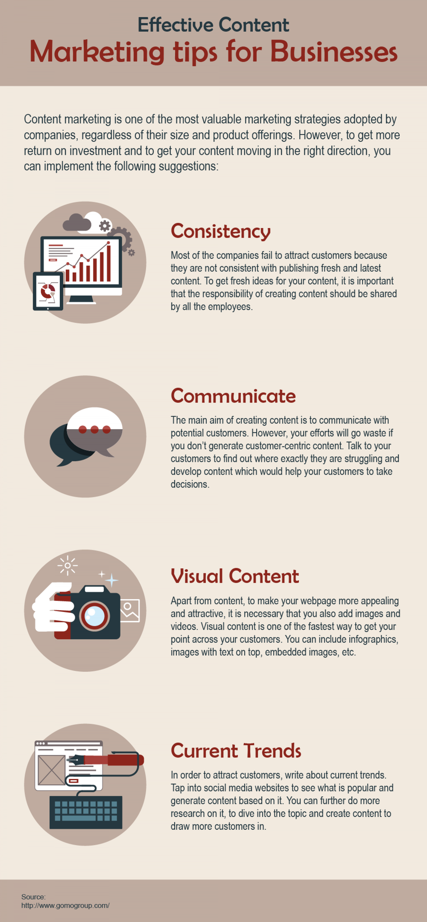 4 Tips for Effective Content Marketing Infographic