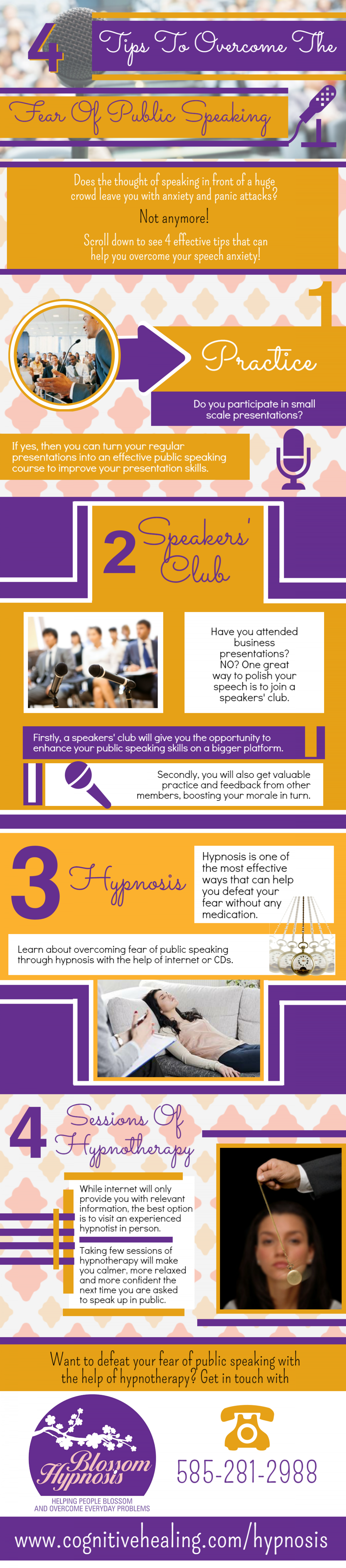 4 Tips to overcome the fear of public speaking Infographic