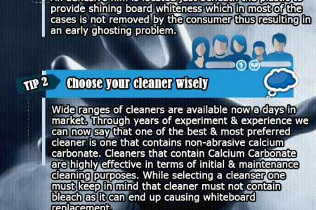4 Tips to Prevent and Remove Whiteboard Ghosting Infographic