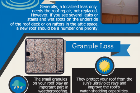 4 Warning! Signs you need a new roof Infographic
