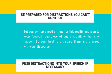 4 Ways To Avoid Distractions While Giving speech In Public Infographic