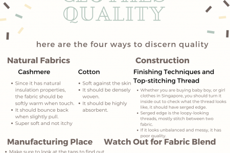 4 Ways to Discern Baby Clothes Quality Infographic