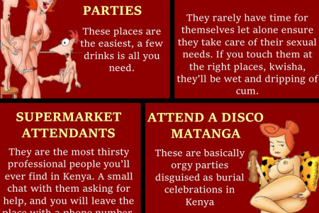 4 ways to get laid in Kenya Infographic