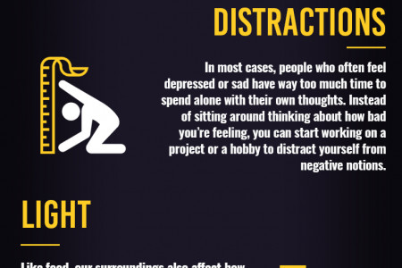 4 Ways to Overcome Depression and Sadness Infographic