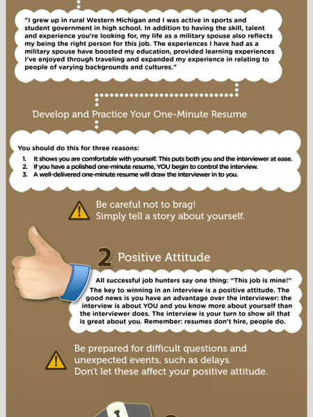 4 Winning Tips for a Successful Job Interview Infographic