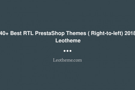 40+ Best RTL PrestaShop Themes ( Right-to-left) 2018 | Leotheme Infographic