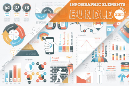 40% OFF Infographic Elements Bundle Infographic