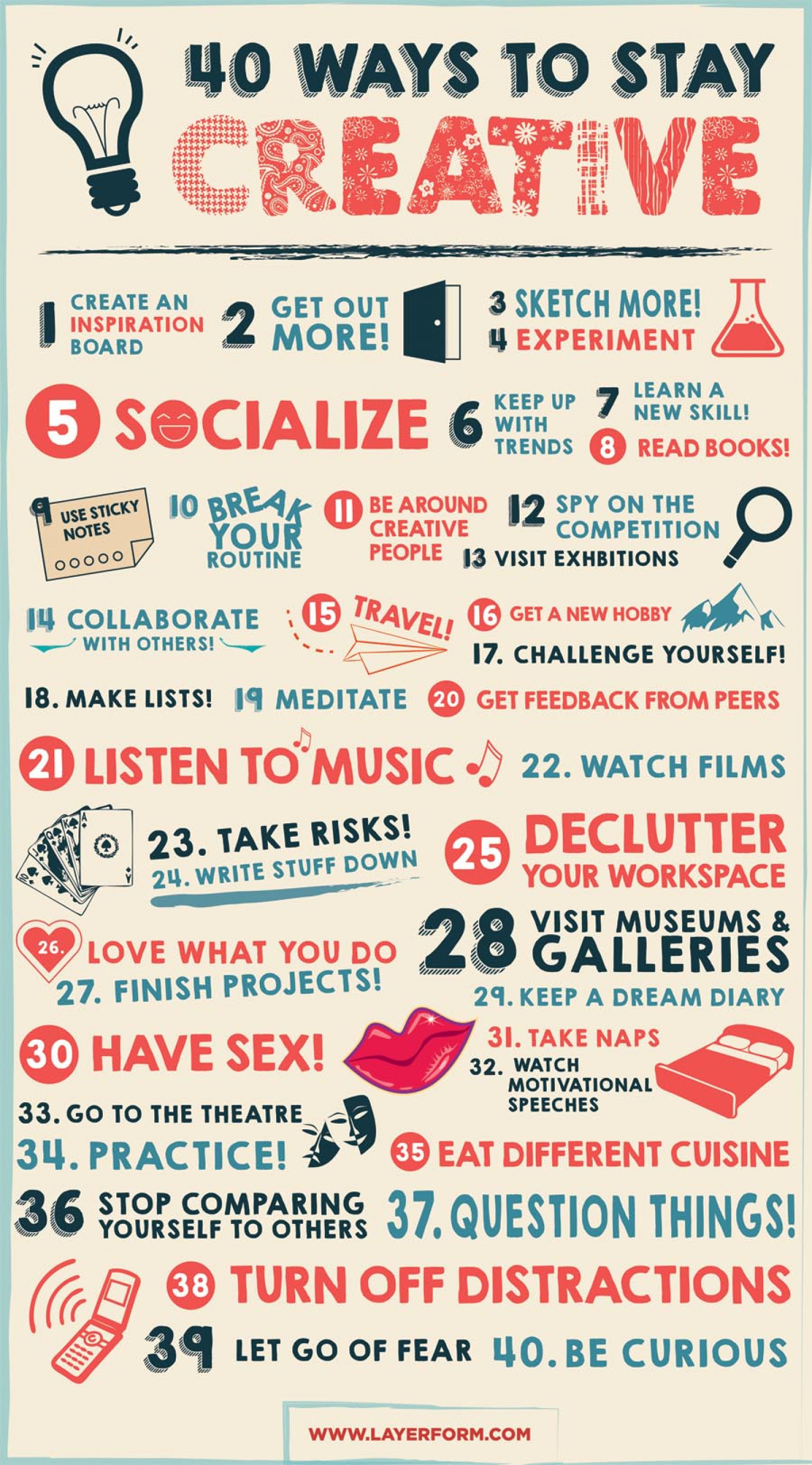 40 Ways to Stay Creative Infographic