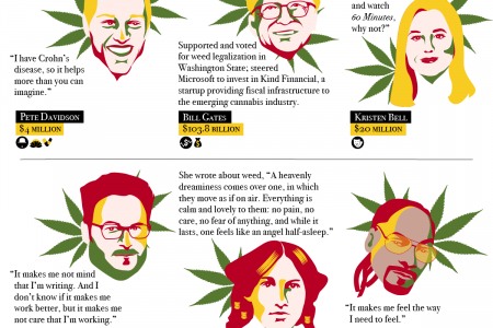 42 Successful People Who Use Marijuana Infographic