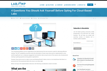 4 Questions You Should Ask Yourself Before Opting For Cloud-Based Labs Infographic
