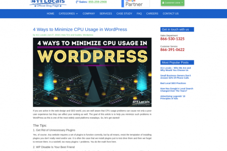 4 Ways to Minimize CPU Usage in WordPress Infographic