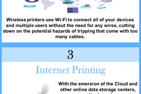5 Advantages of Wireless Printing Infographic