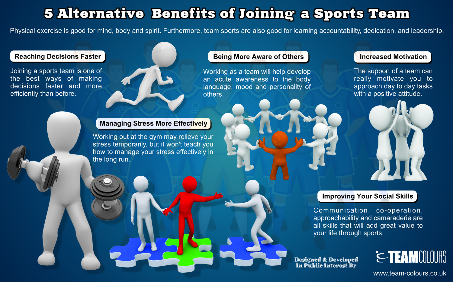 benefits of team sport While there are benefits to both team and individual sport, they differ vastly in  team sports, success or failure in competition depends on many variables.