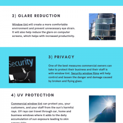 5 Benefits of Commercial Window Tint - Infographic
