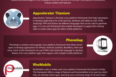 5 Best Frameworks for Cross-Platform Mobile Application Development Infographic