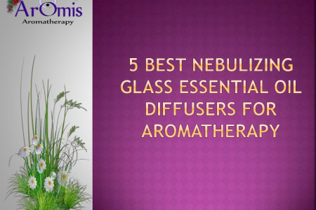 5 Best Nebulizing Glass Essential Oil Diffusers For Aromatherapy Infographic