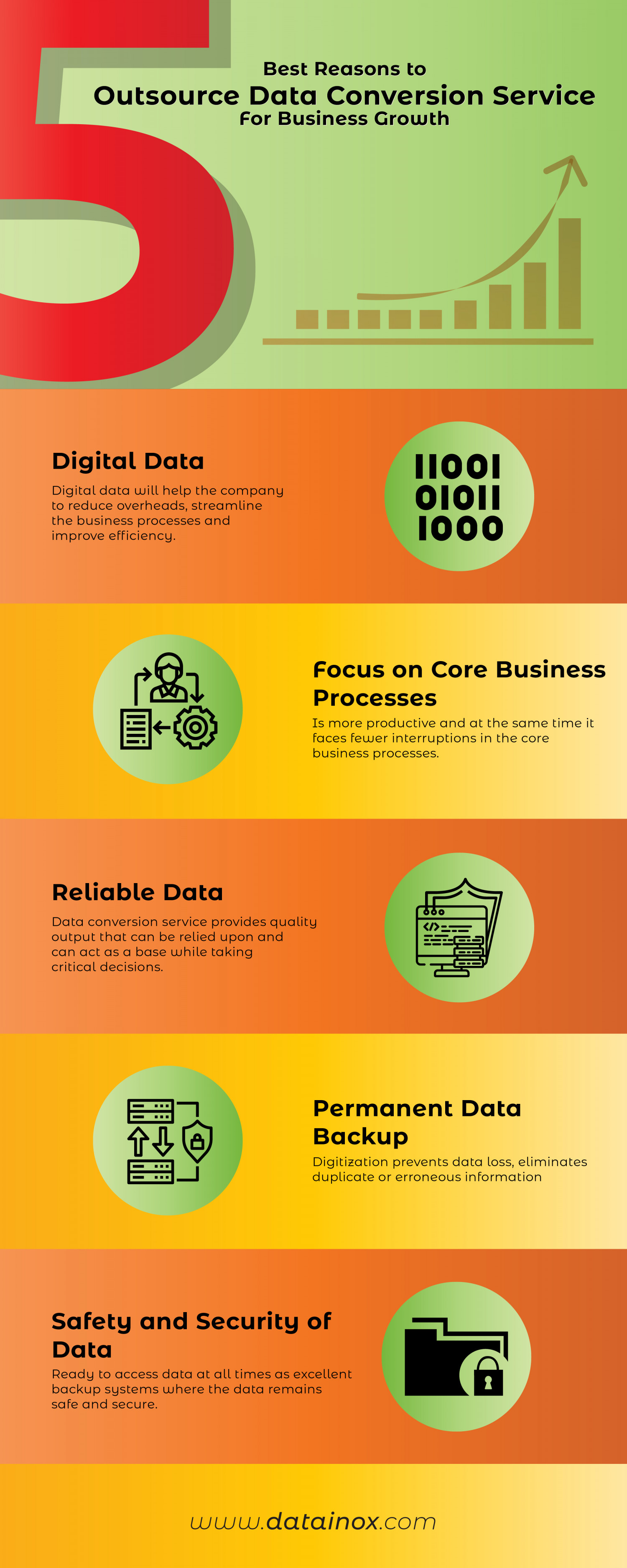 5 BEST REASONS TO OUTSOURCE DATA CONVERSION SERVICE FOR BUSINESS GROWTH Infographic