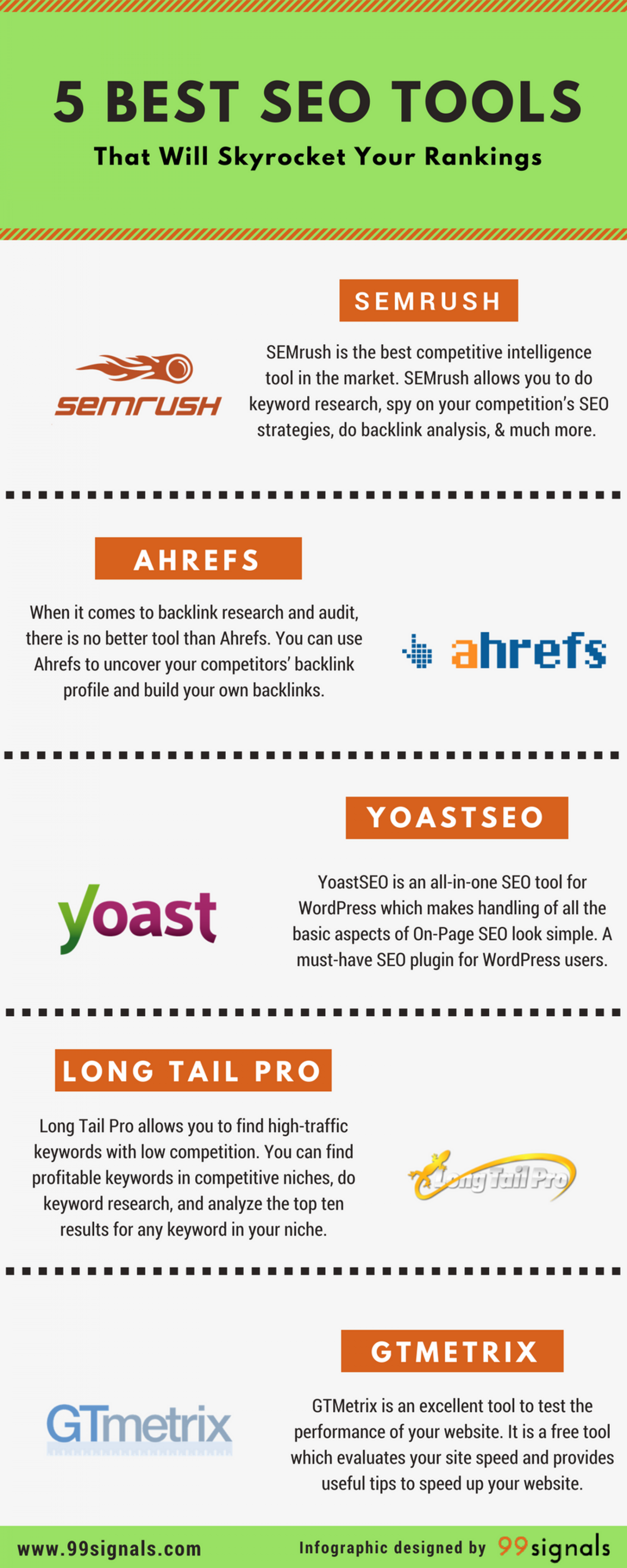 5 Best SEO Tools That Will Skyrocket Your Rankings [Infographic] Infographic