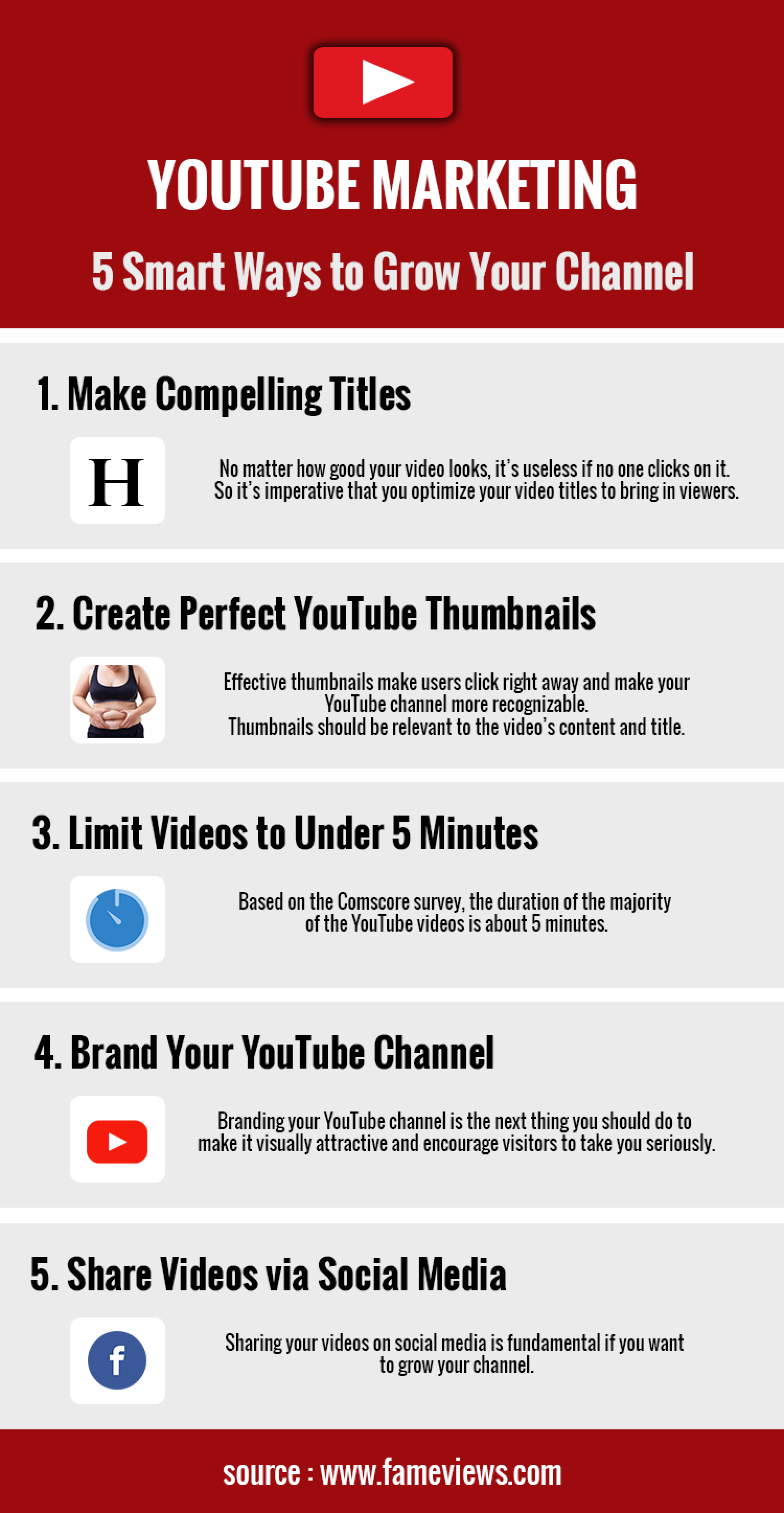 5 Best Youtube Marketing Tips  Infographic