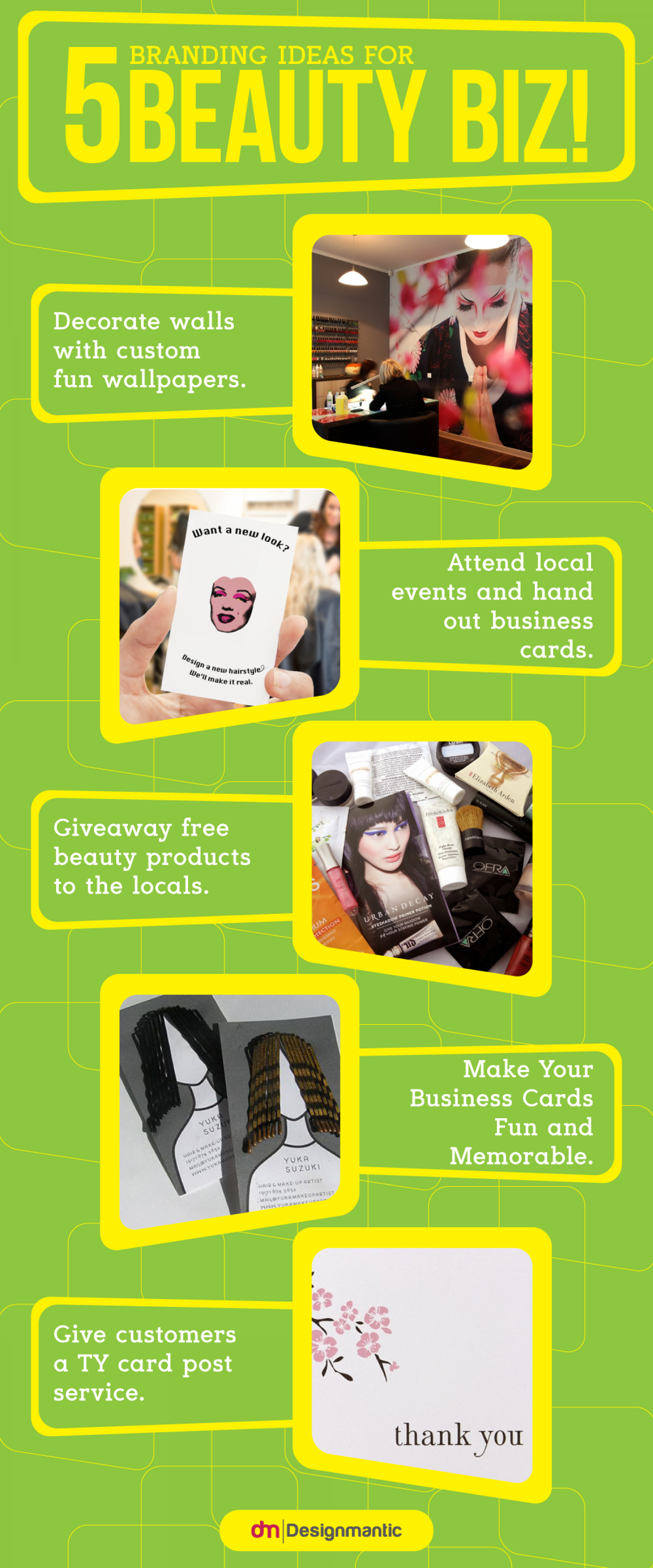 5 Branding Ideas For Beauty Biz! Infographic