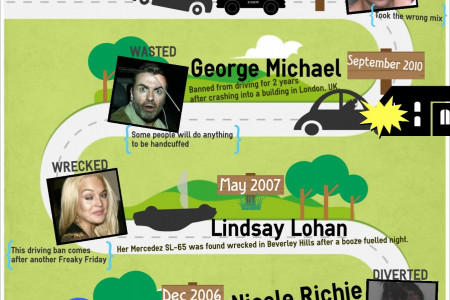 5 Celebrity DUI Cases Infographic