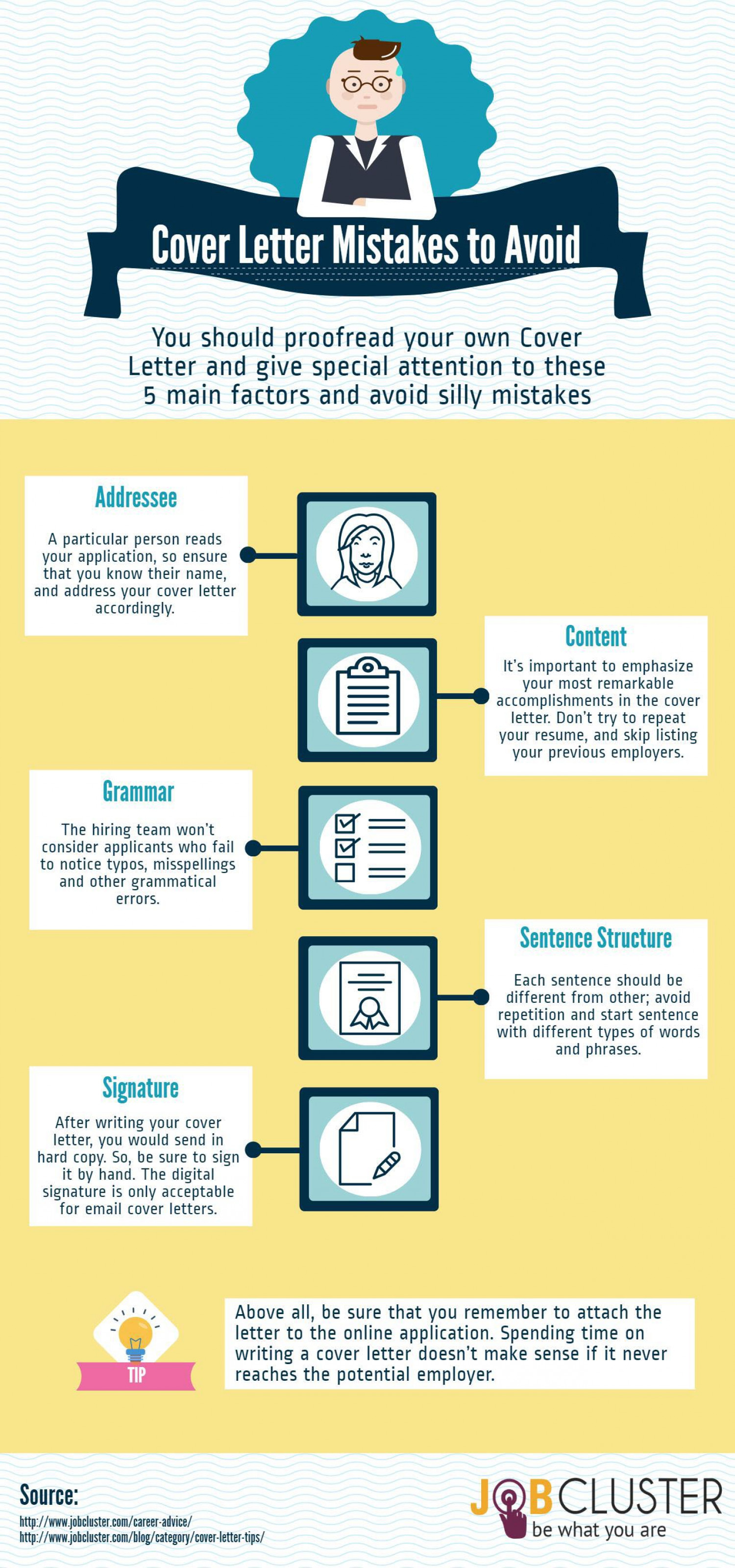 5 common cover letter mistakes to avoid visual 5 common cover letter mistakes to avoid infographic madrichimfo Image collections
