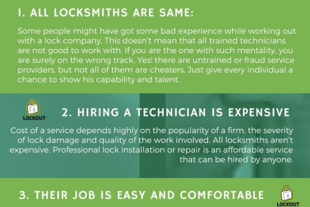 5 Common Misconceptions About Locksmiths Infographic