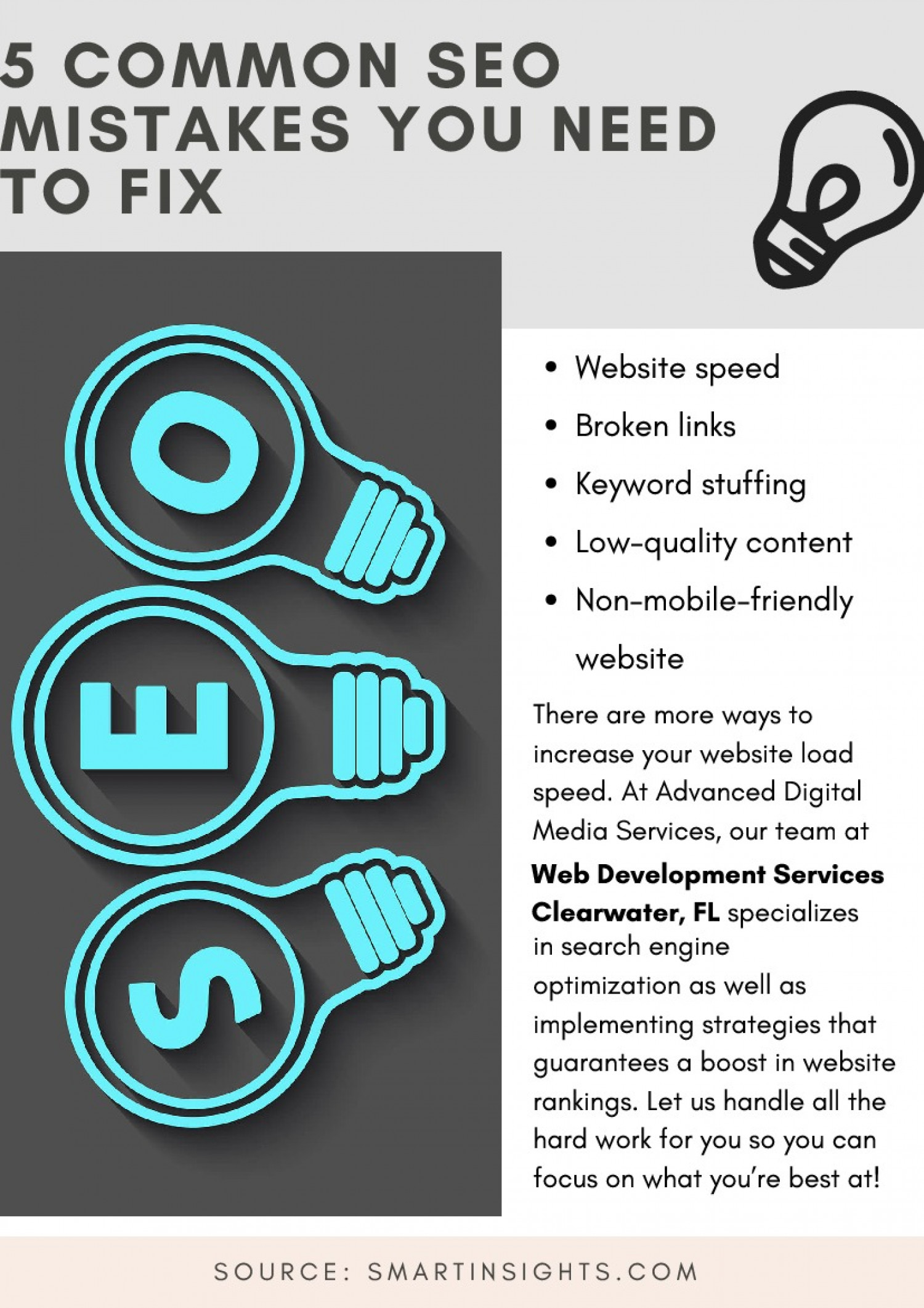 5 Common SEO Mistakes You Need To Fix Infographic