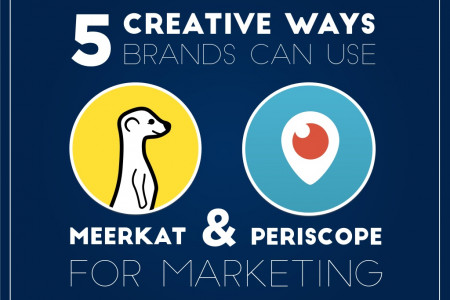 5 Creative Ways Brands Can Use Meerkat & Periscope For Marketing Infographic