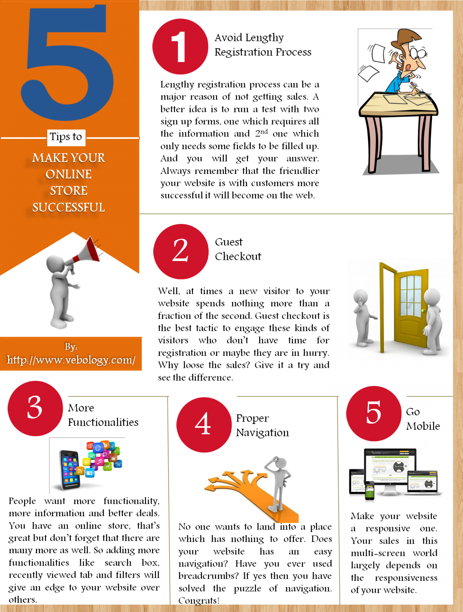 5 Tips to Make Your Online Store Successful Infographic