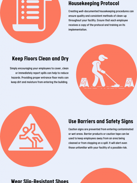 5 Effective Ways to Prevent Slips, Trips and Falls in Your Facility Infographic